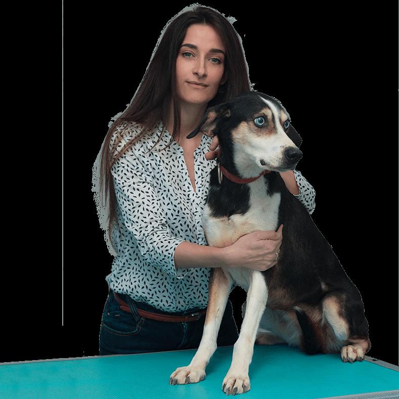 Veterinaria Pupa Barbetta con cane